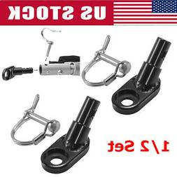 1/2Set Bike Bicycle Trailer Coupler Attachment Angled Elbow