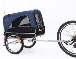2 in 1 small sized bike trailer bicycle pet trailer/ dog cag