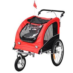 Giantex 2-in-1 Pet Dog Stroller W/Hitch, Suspension, Safety
