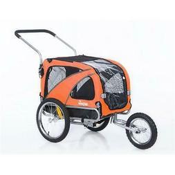 10201-Orange Medium Pet Dog Trailer & Jogger, Orange