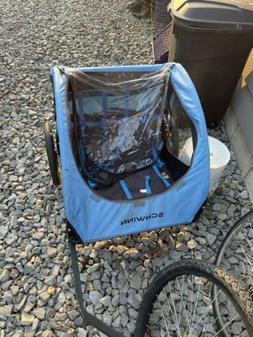 Schwinn 13SC682WME 2 Passenger Foldable Bike Trailer - Blue/