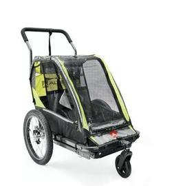 2-Child Bike Outdoor Trailer Kids Stroller Carrier Pull Cart