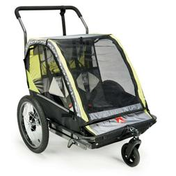 Deluxe 2 In 1 child bike trailer and stroller - New in Hand