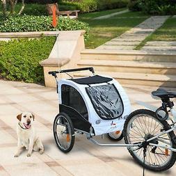 2 IN 1 Folding Dog Bike Stroller Cat Bicycle Trailer Pet Car