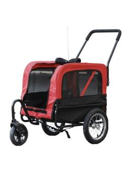 2 in 1 Pet Carrier Dog Bike Bicycle Trailer Stroller Jogging