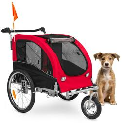 Best Choice Products 2-in-1 Pet Stroller and Bike Trailer w/