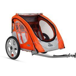 Bike Trailer 2 Seat Bicycle Cart Cargo w/ Wheels Child Baby
