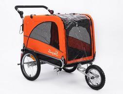 Sepnine 3 in 1 Luxury Large Sized Bike Trailer Bicycle Pet T