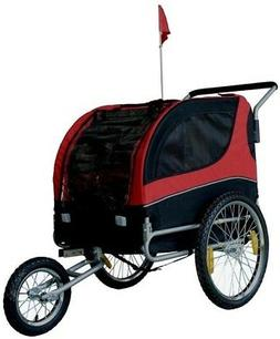 3 Wheels Pet Stroller Bike Bicycle Trailer Dog Cat Travel Jo
