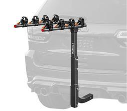 4 Bike Rack Hitch Mount Foldable Car Truck SUV Trailer Rear