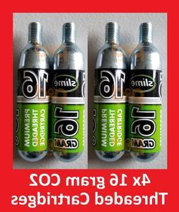 4 pack co2 16g threaded refill cartridges