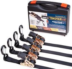 4 tie down straps ratchet