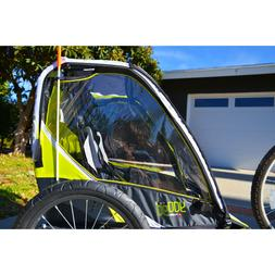 sports deluxe 2 child bike trailer green