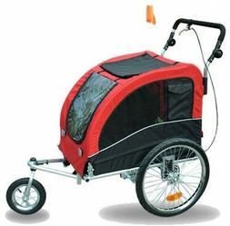Aosom Elite II Pet Dog Bike Bicycle Trailer Stroller Suspens