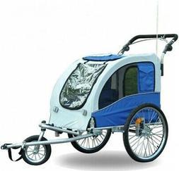 Aosom Elite II Pet Dog Bike Trailer Stroller Suspension Jogg