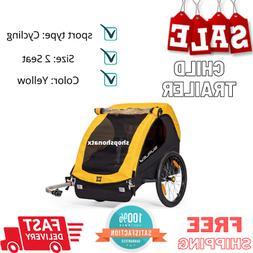 Bee Compact Fold Bike Bicycle Trailer Wagon For 1 or 2 Kids