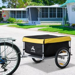New Aosom Bicycle Bike Cargo Trailer Cart Carrier Shopping Y
