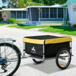 Bicycle Bike Cargo Trailer Cart Carrier Shopping Yellow and