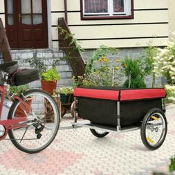 Bicycle Bike Cargo Trailer Steel Carrier Storage Cart Wheel
