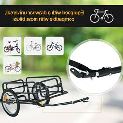 Bicycle Bike Cargo Trailer Steel Luggage Cart Carrier Vehicl