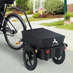 Bicycle Bike Cargo Trailer Steel Carrier Storage Cart Wheel
