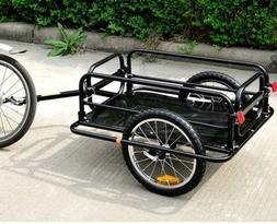 Pedal Bike Cargo Trailer Bicycle Storage Cart Luggage Hauler