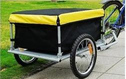 Bicycle Bike Cargo Trailer Storage Cart with Cover Luggage H