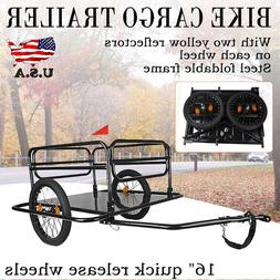 Bicycle Cargo Trailer Dural Bike Wheels Foldable Storage Car