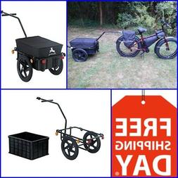 "Bicycle Cargo Dog Trailer 15"" Bike Wheel Folds Max 88 Lbs Wa"