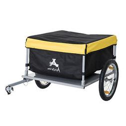 Bicycle Cargo Trailer Bike Large Carrier Cart w/ Rain Cover