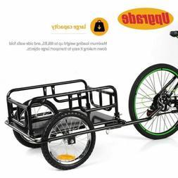 Bicycle Cargo Trailer Dural Bike Wheels Foldable Outdoor Pet
