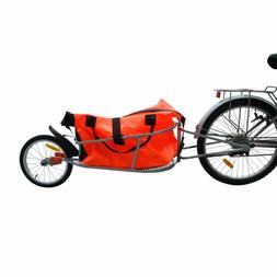 Bicycle Cargo Trailer One-wheel Heavy Duty Luggage Storage B