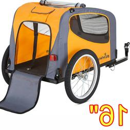Bicycle Pet Trailer Bike Dog Cat Carrier Jogging Stroller Wa