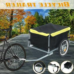 Bicycle Trailer Bike Cargo Steel Carrier Storage Cart Wheel