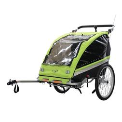 Bicycle Trailer Double Child Jogger Stroller Outdoor Sport R