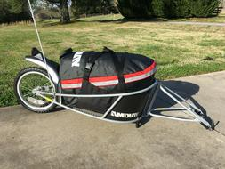 big tow bicycle cargo trailer with fitted