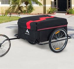 Bike Cargo Trailer w/ Rain Cover Bicycle Large Carrier Cart