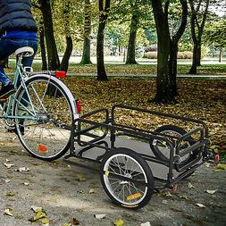 Bike Cargo Trailer w/ Two Wheels Bicycle Large Carrier Cart