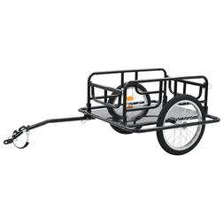 "vidaXL Bike Cargo Trailer 51.2"" Steel Black Bicycle Vehicle"
