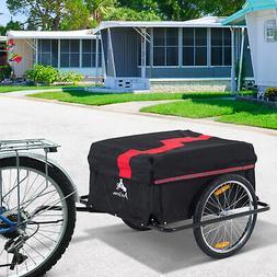 Bike Cargo Trailer Bicycle Shopping Cart Carrier Steel w/ Ra