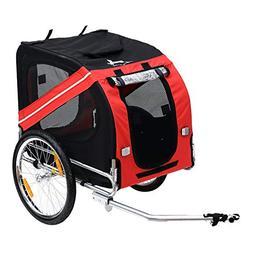 Festnight Bike Cargo Trailer Carrier for Pets