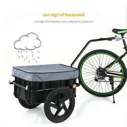 iKayaa Bike Cargo Trailer Trailer Cart Carrier w/ Removable