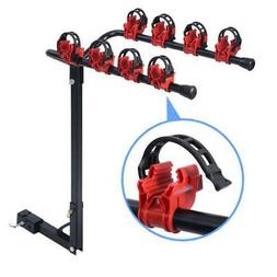 """Bike Carrier Portable 4 Bicycle Rack Trailer Hitch 1-1/4""""&2"""""""