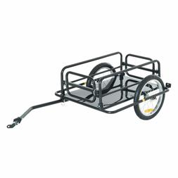 Aosom Wanderer Folding Bicycle Bike Cargo Storage Cart And L