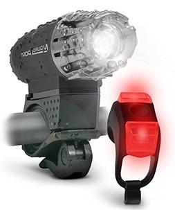 Sport LED Bike Light Kit - Rechargeable Bicycle Headlight +