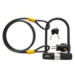 Via Velo Bike Lock, Bike U-Lock with Cable,Heavy Duty 15mm s