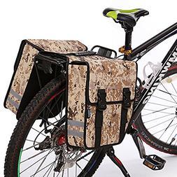 TRAVELLOR Bike Rear Seat Trunk Bag, Multi-Functional Bicycle