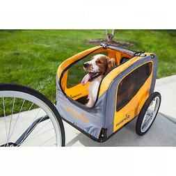 Bike Tow Trailer for Pets Small and Medium Pet Dog Safety Tr