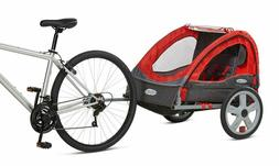 Bike Trailer Double Child Carrier Bicycle Trailer, 2-Passeng