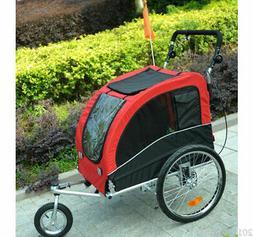 Bike Trailer Foldable Pet Dog Stroller Jogger Large Bicycle